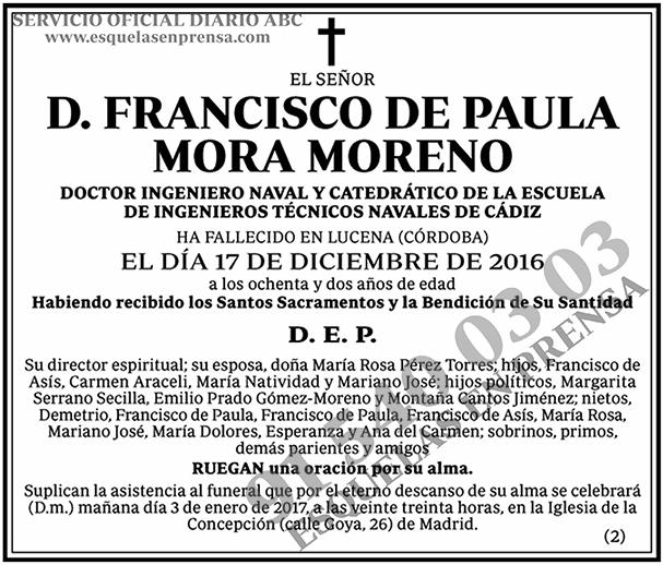 Francisco de Paula Mora Moreno